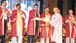 Felicitation by Dr. Vijay Kumar Gavit,  former Medical Education Minister MS.
